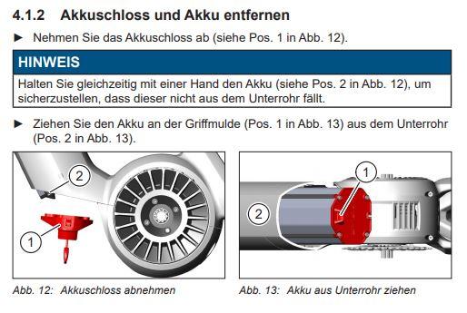 Infografik Schaubild Haibike Flyon Akku ausbauen